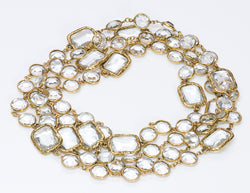 Chanel Byzantine Style Crystal Infinity Chain Necklace