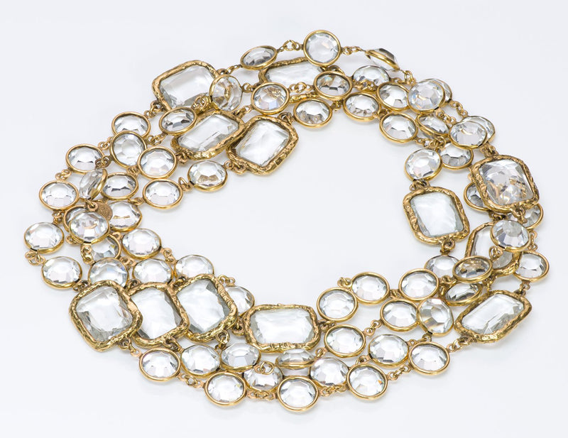 Chanel Crystal Infinity Chain Necklace