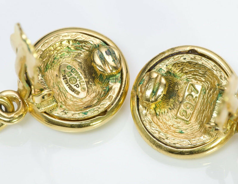 Vintage Chanel CC Gold Tone Earrings 1993 Collection