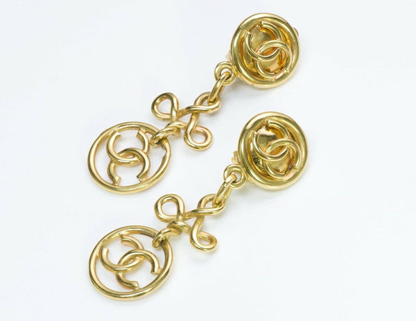 Chanel CC Gold Tone Earrings Collection