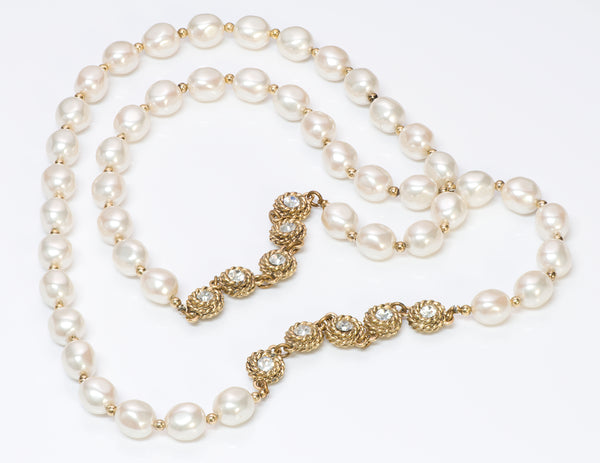 Chanel Pearl Camellia Crystal Necklace
