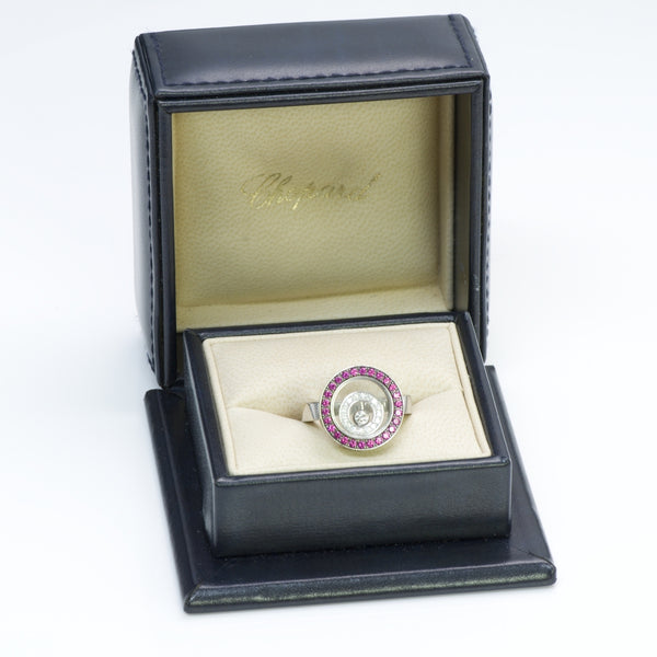 Chopard Happy Spirit Gold Ruby Diamond Ring