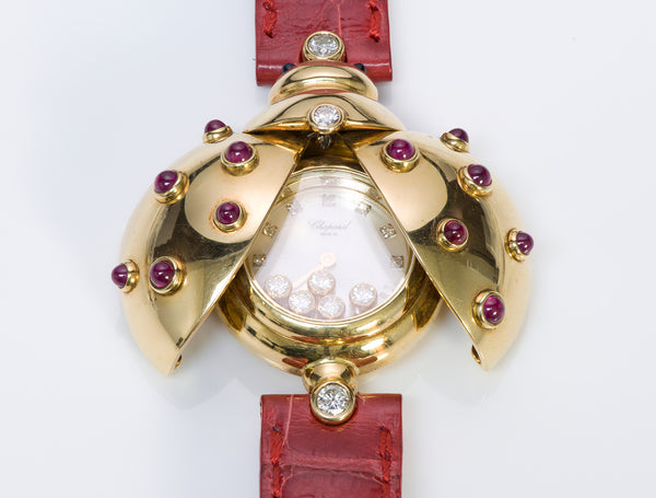 Chopard Diamond Ruby 18K Gold Watch