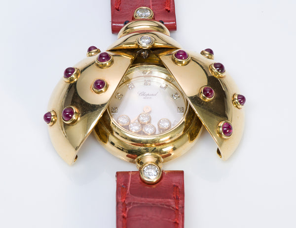 Chopard Happy Diamond Ladybug Ruby 18K Gold Watch