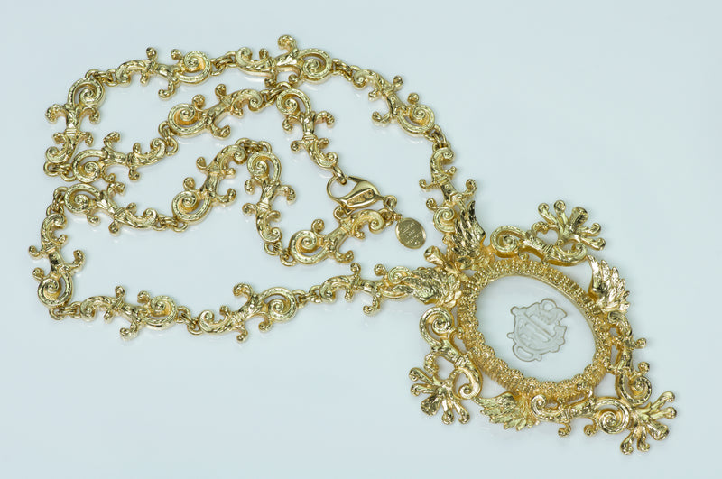 Christian Dior Boutique Necklace Victorian Style Intaglio Necklace