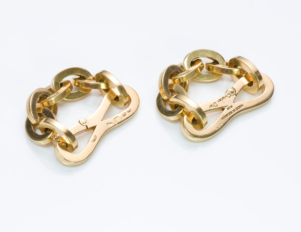 Christian Dior Gold Chain Link Cufflinks