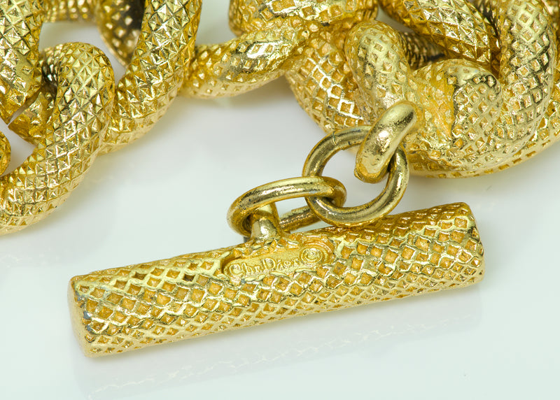 Vintage Christian Dior Gold Tone Chain Necklace