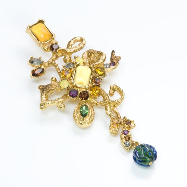 Christian Lacroix Couture Crystal Brooch
