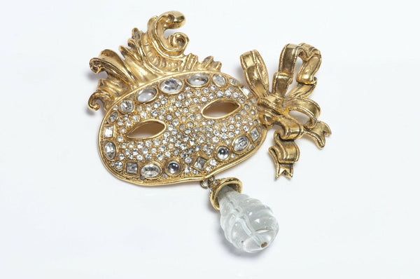 Christian DIOR Boutique Masquerade Mask Brooch