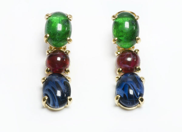 Christian DIOR Glass Earrings