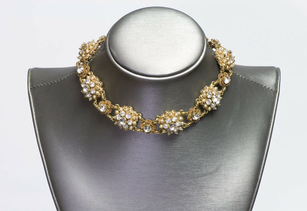 Christian DIOR by Kramer Pearl Crystal Choker Necklace