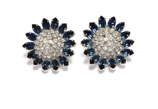 Christian Dior Henkel & Grosse Crystal Earrings