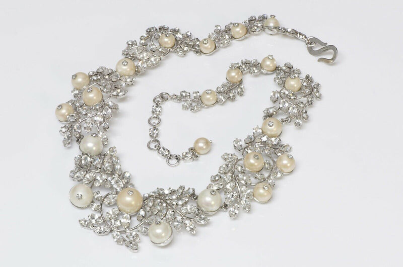 Christian Dior Crystal Pearl Necklace
