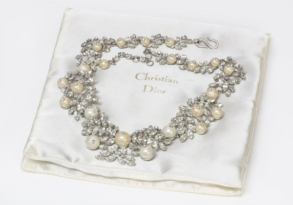Christian Dior Henkel & Grosse 1959 Crystal Pearl Necklace