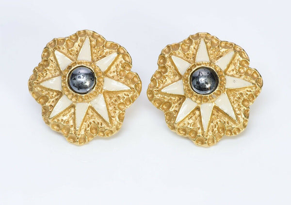 Christian Lacroix  Enamel Star Earrings