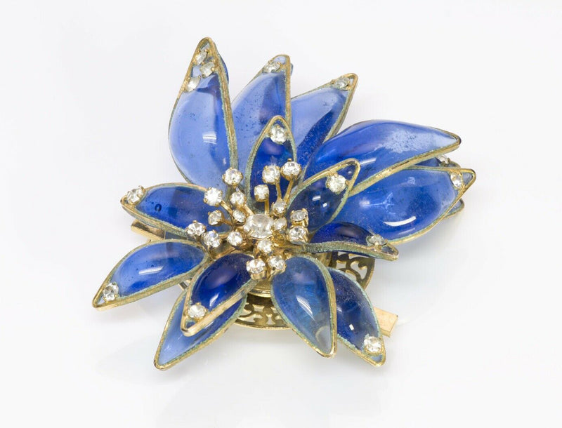 Christian DIOR Maison Gripoix Glass Flower Brooch