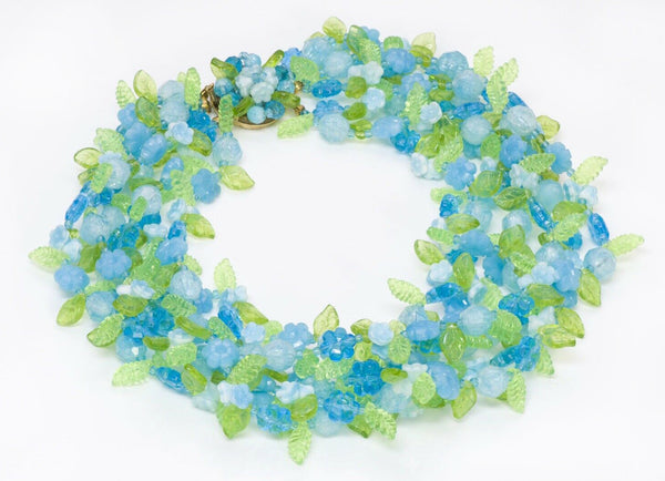 Christian DIOR Henkel Grosse Blue Beads Necklace