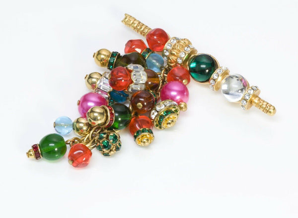 Christian Dior Boutique Gripoix Glass Beads Brooch 2