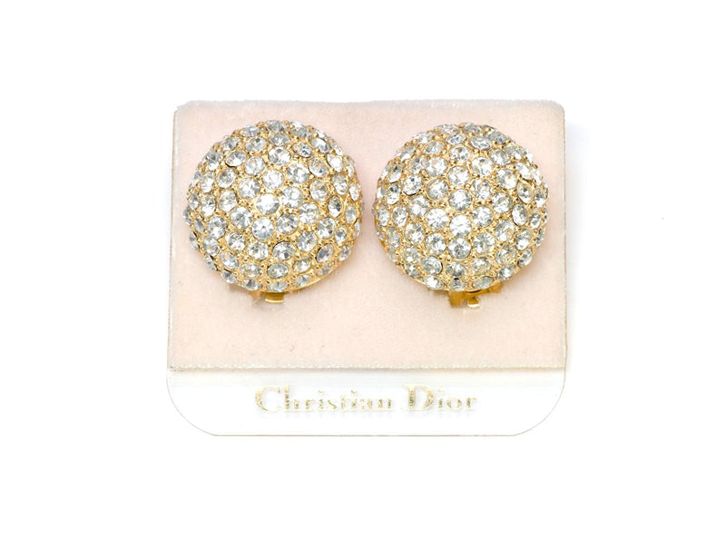 Christian Dior Crystal Earrings 1