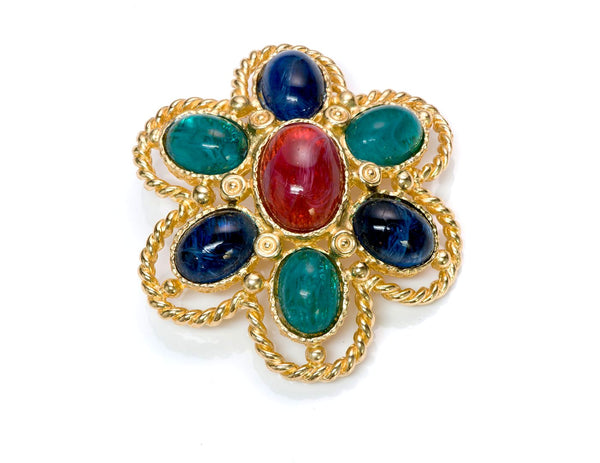 Christian Dior Glass Brooch