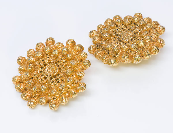 Christian Lacroix Baroque Gold Tone Earrings