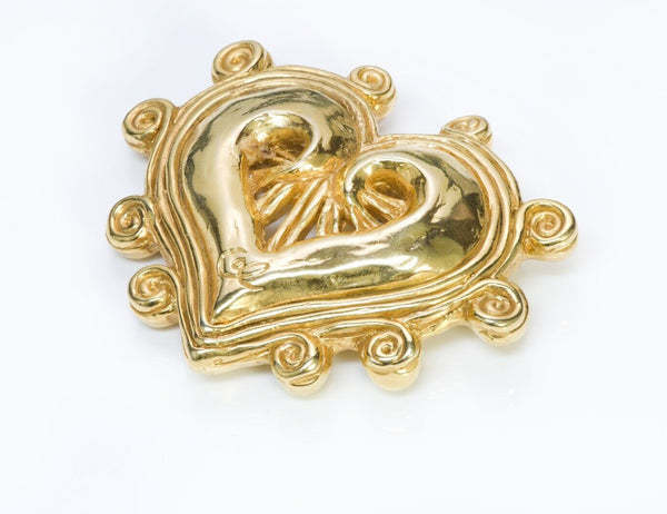 Christian Lacroix Paris Heart Brooch