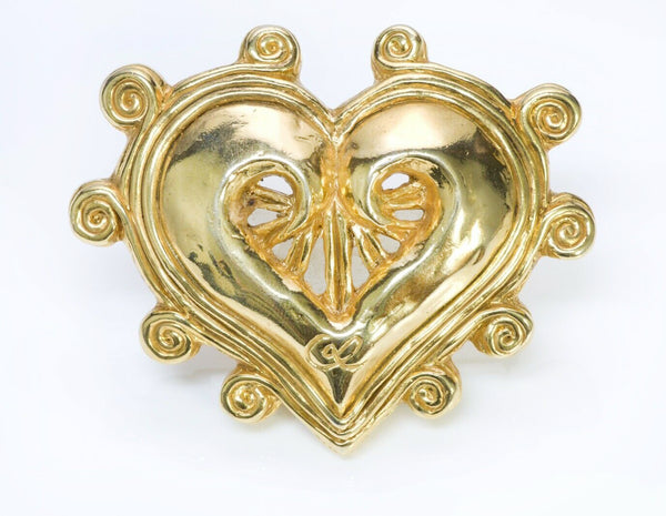 Vintage Christian Lacroix Paris Heart Brooch