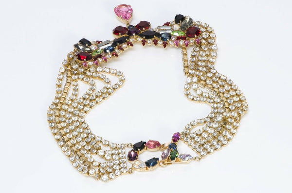 Christian Lacroix Paris Crystal Chain Collar Necklace