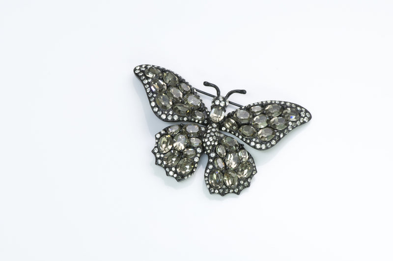 Ciner Crystal Butterfly Brooch