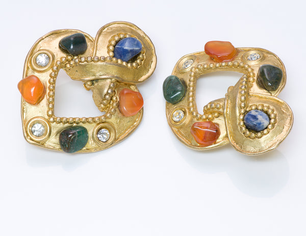 Claire Deve Byzantine Style Stone Earrings