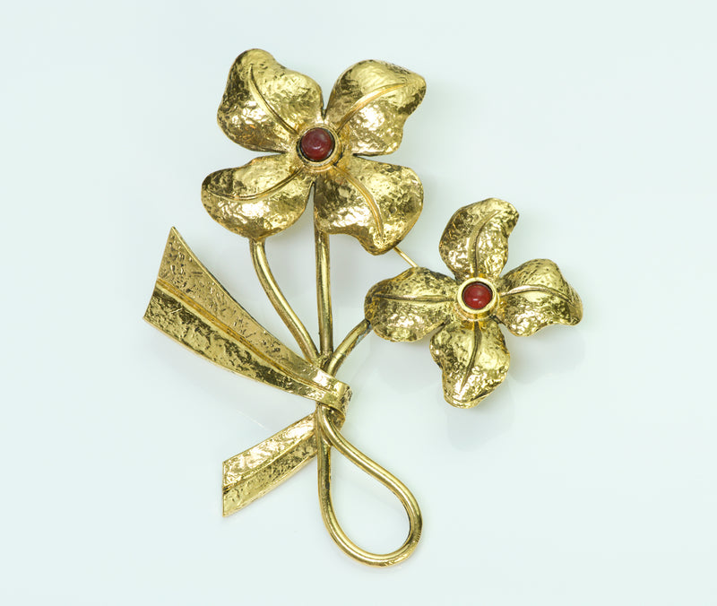 Coco Chanel Flower Brooch
