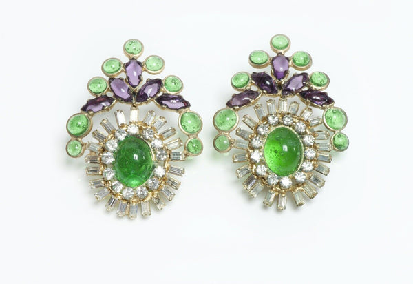 Coco Chanel Gripoix Earrings
