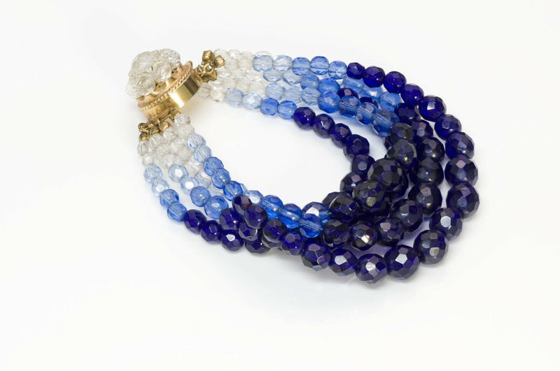 Coppola e Toppo Blue Crystal Multi Strand Beads Bracelet2