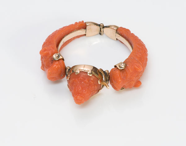 Antique Gold Coral Ring