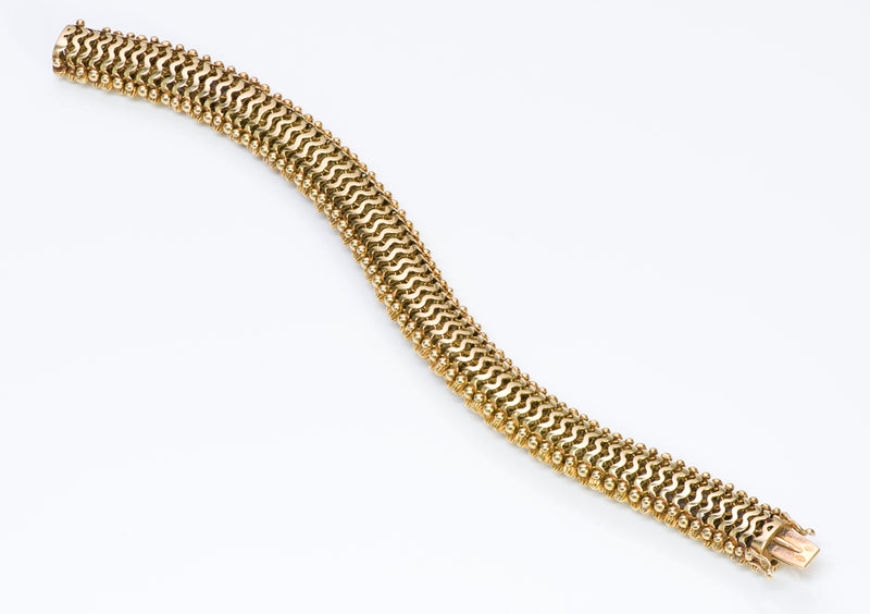 Couscous 18K Gold Diamond Lapis Bracelet-6