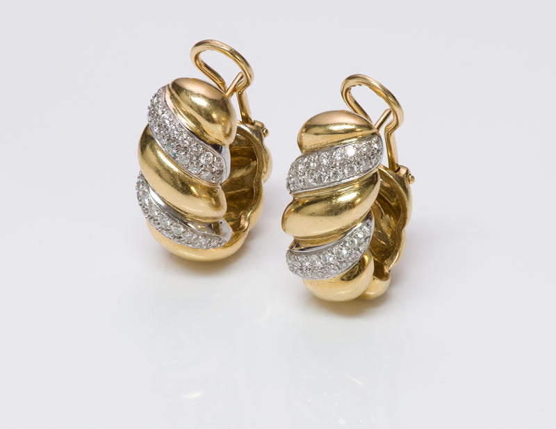 Craig Drake Gold Diamond Earrings