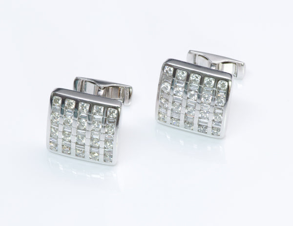 Estate Gold Diamond Cufflinks