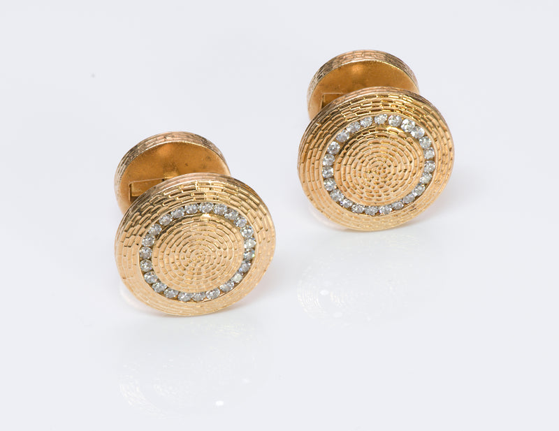 Gold & Diamond Cufflinks