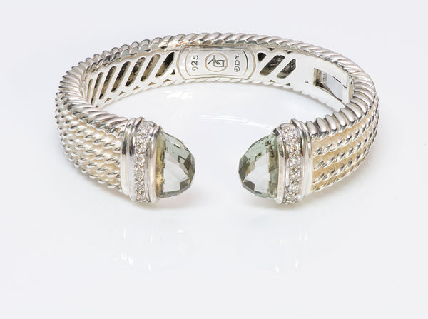 David Yurman Wheaton Diamond Silver Cuff Bracelet 7