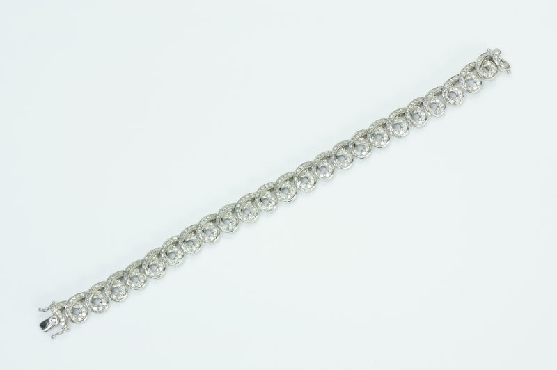 Damiani 18K White Gold Diamond Bracelet