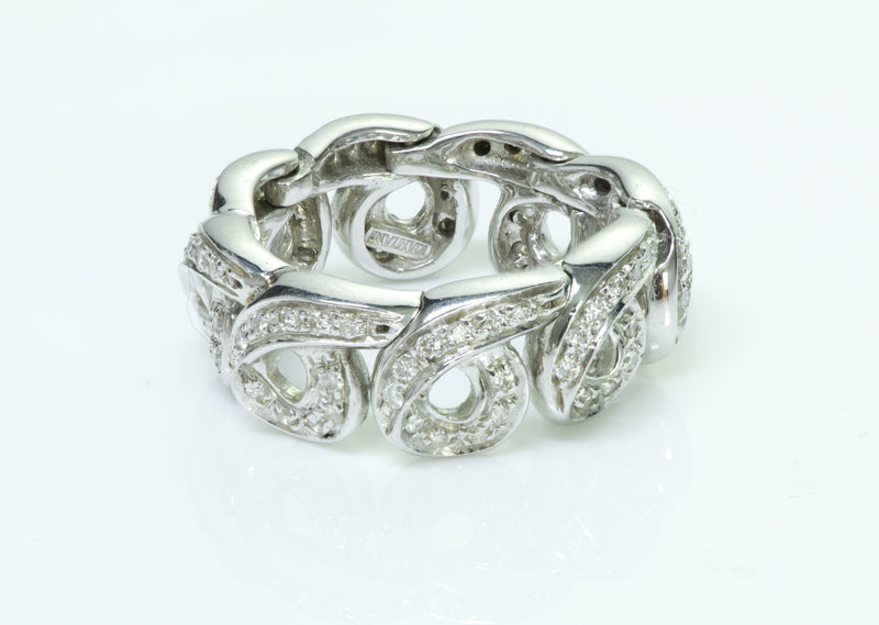 Damiani 18K White Gold Diamond Flexible Ring