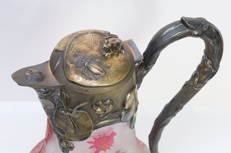 Daum Nancy Art Nouveau Claret Jug