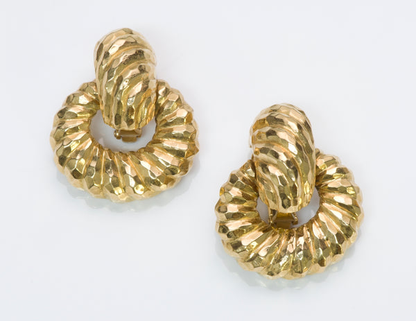 David Webb Gold Earrings