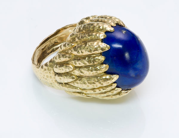 David Webb Lapis & Gold Ring
