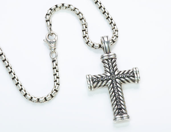 David Yurman Silver Cross Pendant