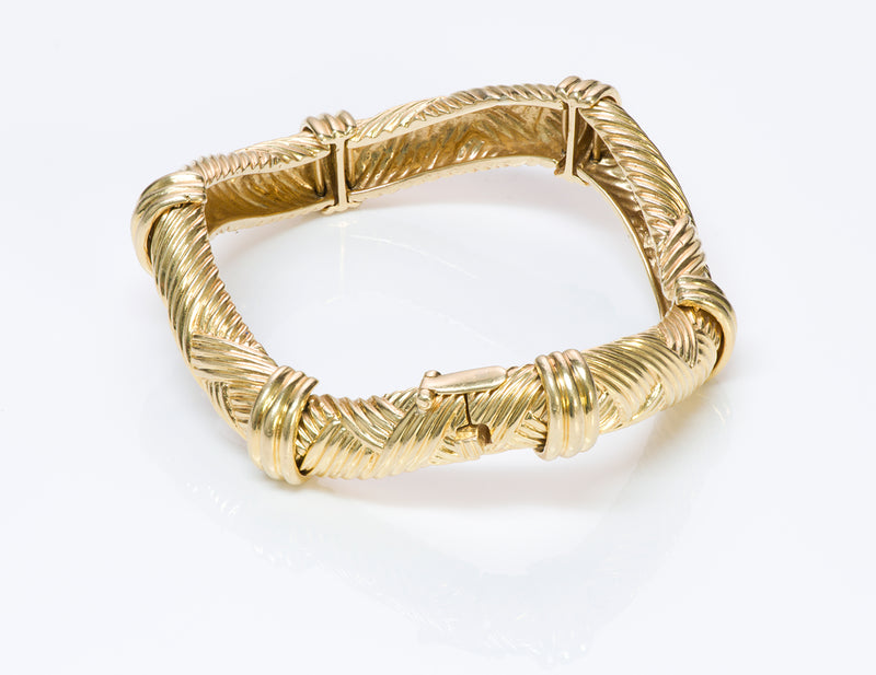 David Webb 18 Yellow Gold Bracelet