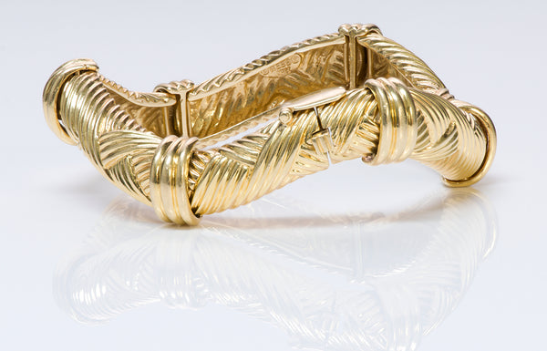 David Webb 18K Yellow Gold Bracelet