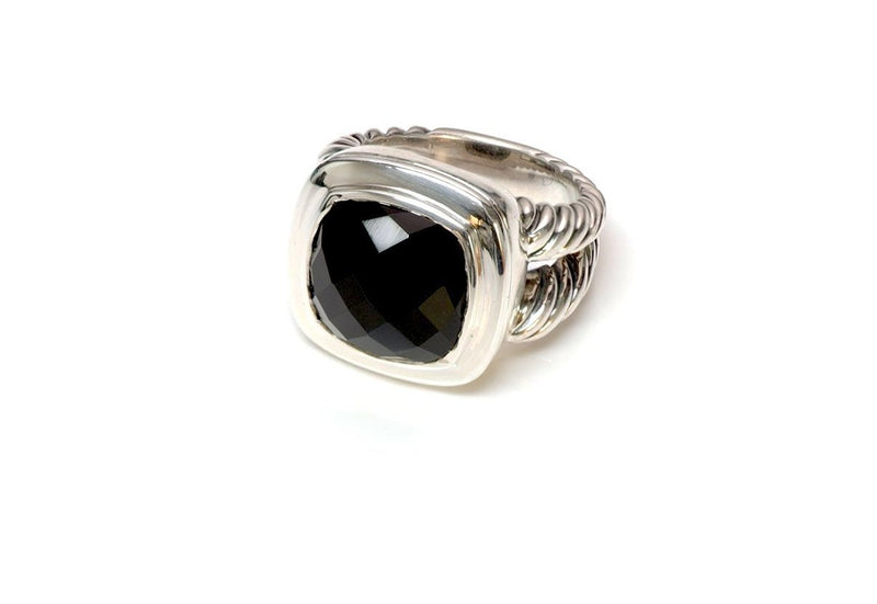 David Yurman Onyx Sterling Silver Albion Ring