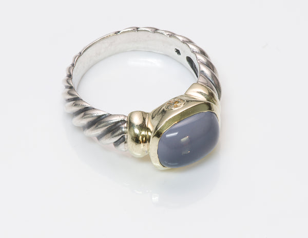 David Yurman Chalcedony Noblesse Silver 14K Gold Ring