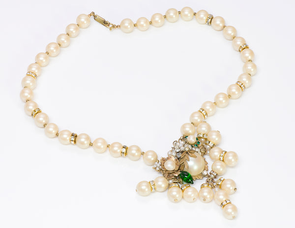 DeMario New York Pearl Crystal Necklace